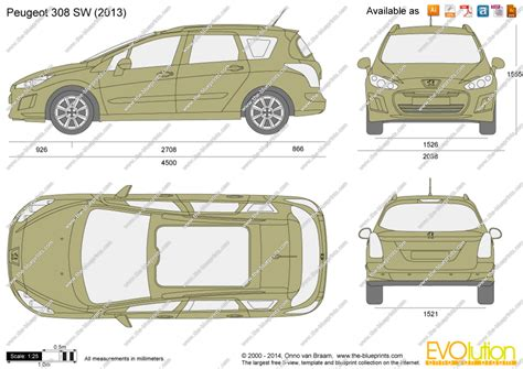 the blueprints vector drawing peugeot 308 sw