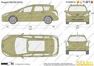 Peugeot 308 Sw Vector Drawing