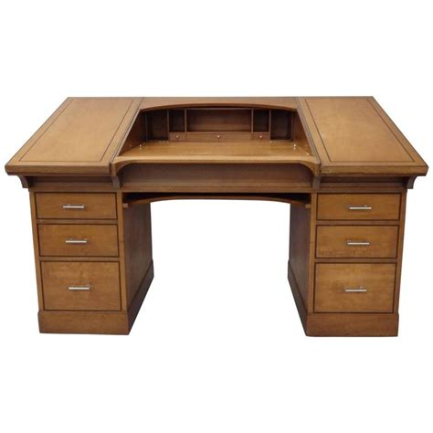 desk with hidden compartments johann tapp custom built art deco drafting desk with