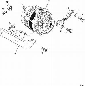 Mercruiser 3 0l Gm 181 I    L4 Alternator  U0026 Brackets Parts