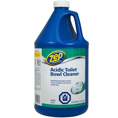 toilet bowl cleaner zep commercial acidic toilet bowl cleaner 3 78 l the home depot canada