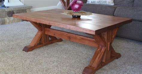 trestle coffee table  diy plans coffee