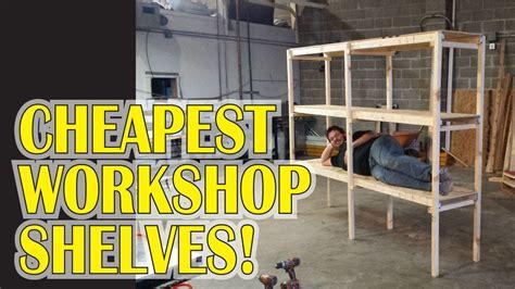 garage workshop shelves   youtube