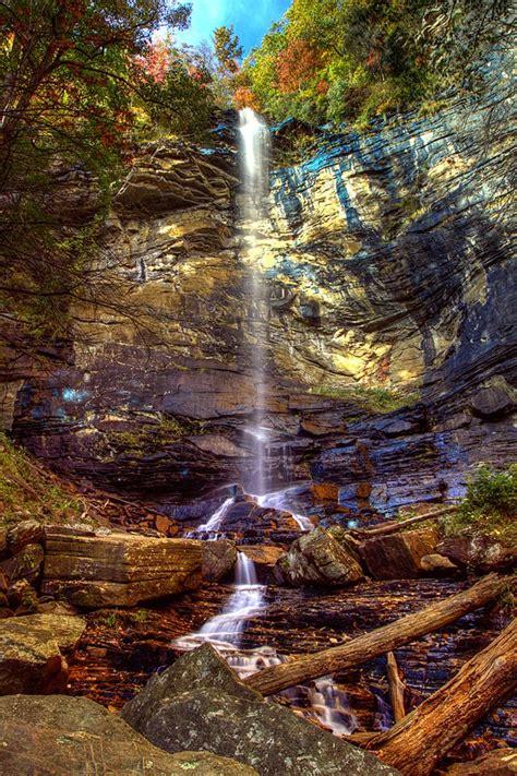 carolina south under falls rainbow hikes sc miles state park gap jones take trail marietta