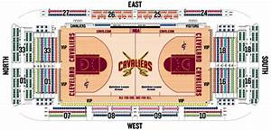 Cleveland seating images for Cavs floor seats