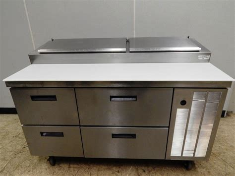 delfield pizza prep table with drawers delfield 4 drawer raised rail pizza prep 60 quot wide 18660
