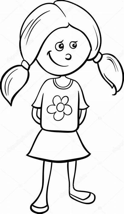 Colorear Meisje Dibujos Chica Om Te Linda