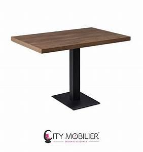 Pied Table Central : table en bois avec pied central pleyel city mobilier ~ Edinachiropracticcenter.com Idées de Décoration