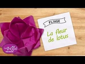 Pliage De Serviette En Papier Facile Youtube : pliage de la serviette en forme de fleur de lotus youtube ~ Melissatoandfro.com Idées de Décoration