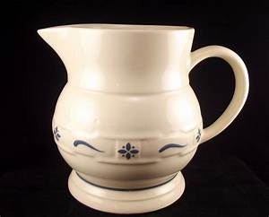 Longaberger Pottery large Woven Traditions Classic blue