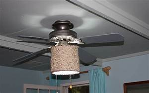 Ceiling fan light shades fabric design modern