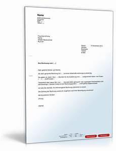 Rechnung Bitte : aufforderung korrektur rechnung muster vorlage zum download ~ Themetempest.com Abrechnung