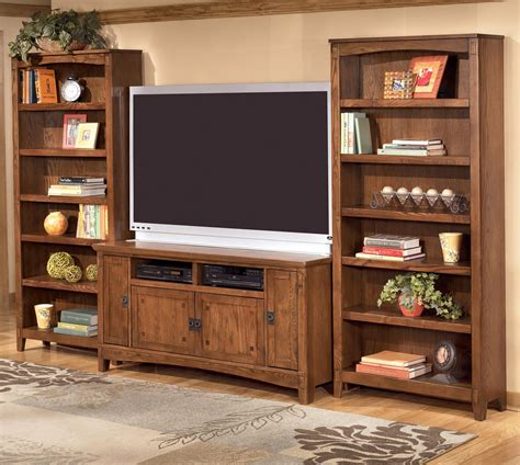 wall unit tv bookcase ashley furniture cross island 60 inch tv stand 2 large