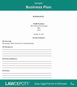 business plan template us lawdepot With canadian business plan template