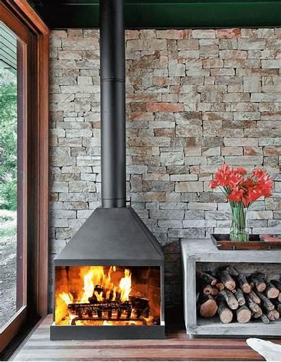 Parede Pedra Lareira Fireplace Lareiras Pedras Paredes