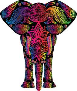 Rainbow Abstract Elephant