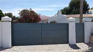 Modele De Portail Coulissant : portail coulissant 2 vantaux prix modele portail fer forg ~ Premium-room.com Idées de Décoration