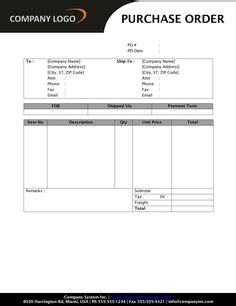 purchase order images invoice design template