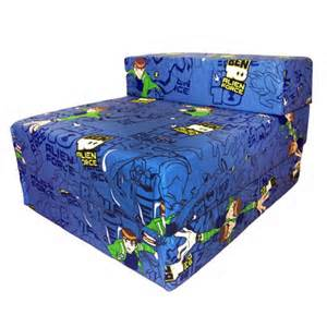 ben 10 design childrens fold out foam z bed futon guest chair sofabed ebay