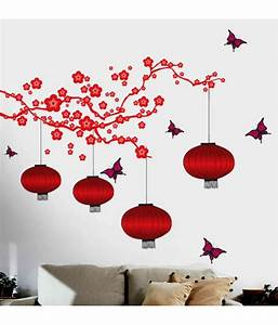 Stickerskart living room pvc red wall stickers buy