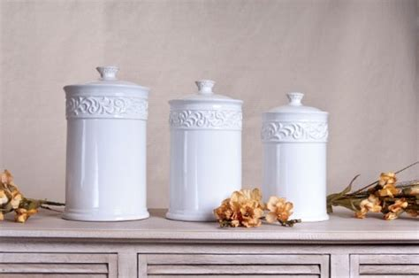 White Kitchen Canister Sets