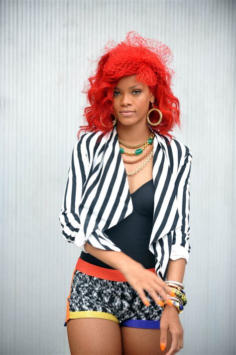 Rihanna Red Hairstyles ~ Review Hairstyles