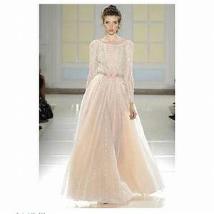 beautiful blush long sleeve lace wedding gown weddings With long sleeve blush wedding dress