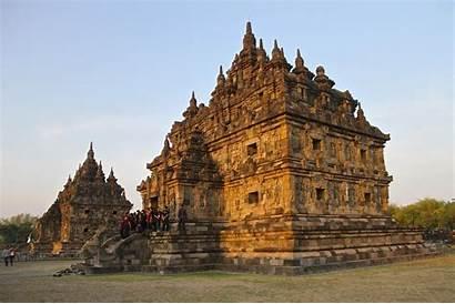 Temple Indonesia Plaosan Temples Yogyakarta Near Magnificent