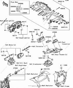 Kawasaki Motorcycle 2009 Oem Parts Diagram For Chassis