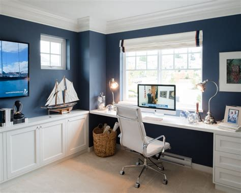 Nautical Inspired Office or Study Space   Ready, Set