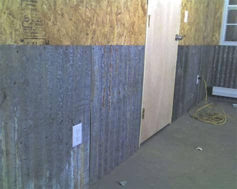 corrugated metal  interior walls  garage journal