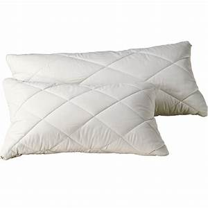 organic pillows natural latex pillows quilted organic With cotton filled bed pillows