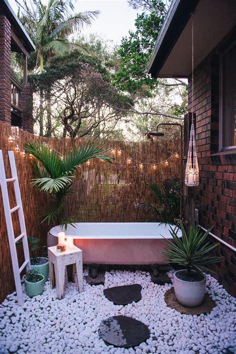 Outdoor Bathroom Designs by Diy Outdoor Bath Spell The Collective
