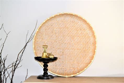 Not really an art, but since each basket has its own unique shape and size, i had to adjust accordingly. Vintage Winnowing Basket | Wall Basket | Large Sieve | Tobacco Drying Basket | Photo Prop | Boho ...