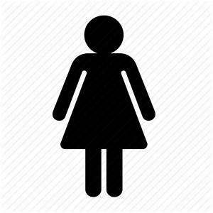 Female, lady, navigation, toilet, woman icon   Icon search ...