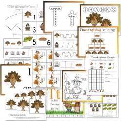 thanksgiving preschool free printables confessions of a homeschooler