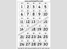 Number Chart FREE Printable Worksheets – Worksheetfun