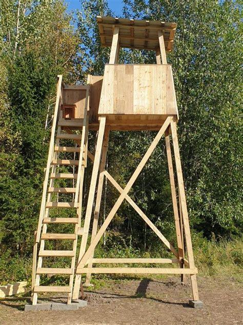Stabils medību tornis no koka   Medības