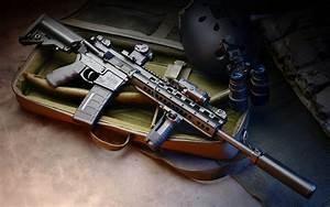 Assault rifle m4 machine weapon gun military police ...