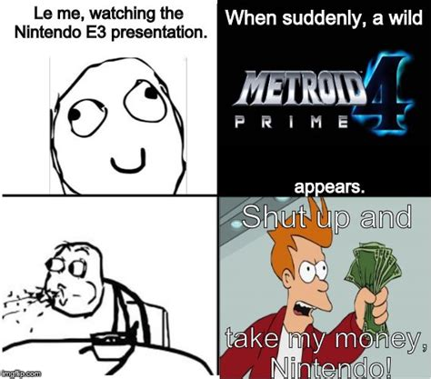 Cereal Guy Meme Generator - how the internet reacted when metroid prime 4 was announced imgflip