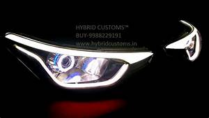 Hyundai I20 Elite Projector Headlights Dual Drl Custom Lights