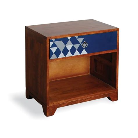navy blue side table aztec vintage side table in navy blue side coffee
