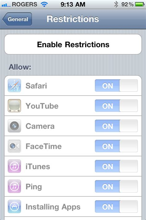 restrictions passcode iphone ios 4 3 beta for iphone walkthrough imore