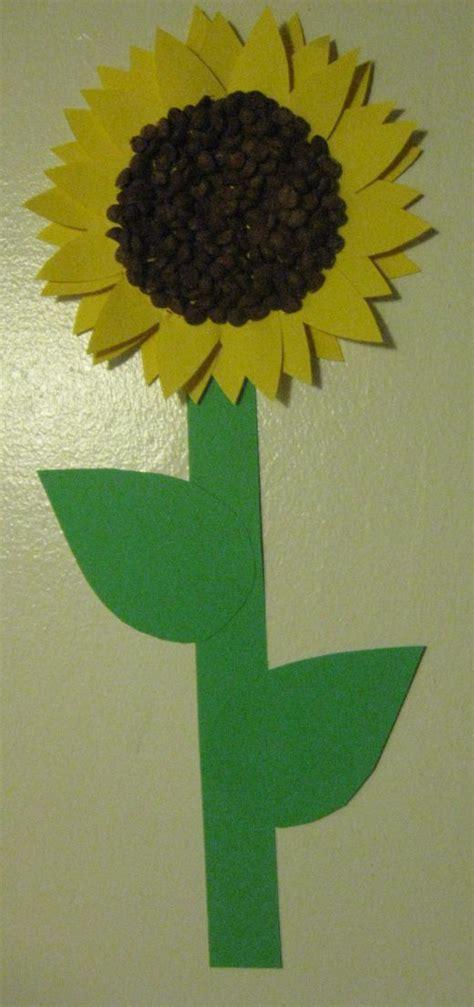 preschool craft sunflowers free printable template 489 | 0980ac563d88b546bdf9ce93e0c54ccf