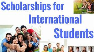 Scholarships for International Students - YouTube