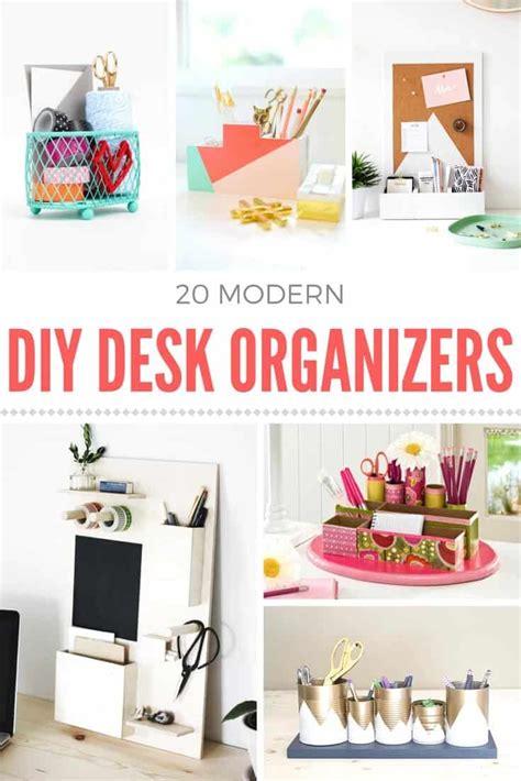 how to make a diy desk organizer mod podge rocks