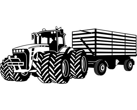Wandtattoo Kinderzimmer Traktor by Wandtattoo Gro 223 Er Traktor Mit Anh 228 Nger Trecker