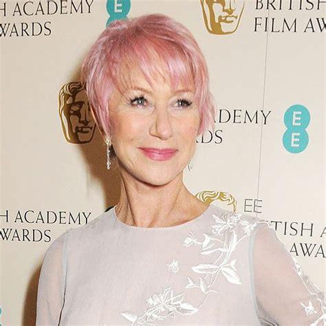 Helen Mirren Pink Pixie Hair How Wonderful Is She I