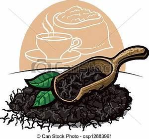 Clip Art Vector of Dry black tea leaves csp12883961 ...