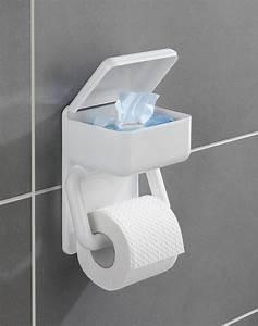 Toilettenpapierhalter Mit Feuchttücherbox : wenko 8514500 toilettenpapierhalter 2 in 1 real ~ A.2002-acura-tl-radio.info Haus und Dekorationen